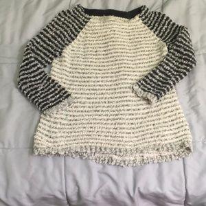 Striped loft sweater